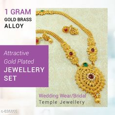 Checkout this latest Jewellery Set Product Name: *Attractive Gold Plated Jewellery Set* Country of Origin: India Easy Returns Available In Case Of Any Issue   Catalog Rating: ★4.1 (3204)  Catalog Name: Women's Elegant Gold Plated Jewellery Sets Vol 3 CatalogID_96664 C77-SC1093 Code: 152-836860-765