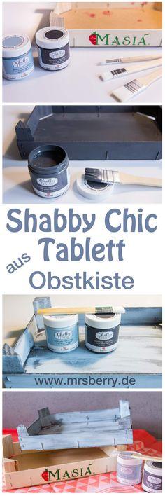 Shabby Chic selber machen - Ich zeige euch, wie ihr mit wenigen Handgriffen und Hilfsmitteln aus einer alten Obstkiste ein schickes Tablett im Used Look basteln könnt. Mehr MrsBerry DIY's gibt's hier: