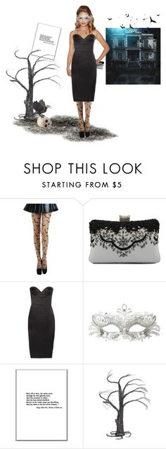 """Halloween ""Mask""erade contest"" by rasc2016 ❤ liked on Polyvore featuring Victoria Beckham, Masquerade, Crate and Barrel, Home Decorators Collection, Halloween and polyvorefashion"