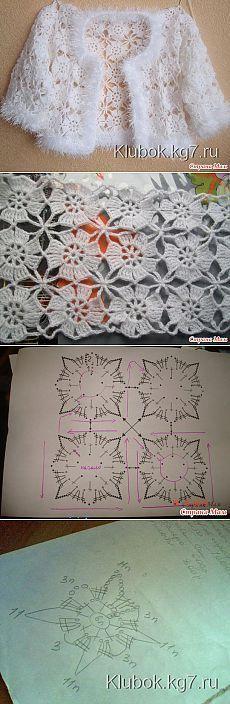 Crochet Poncho Patterns Boleros Ideas For 2020 Poncho Au Crochet, Pull Crochet, Mode Crochet, Crochet Poncho Patterns, Crochet Coat, Crochet Jacket, Crochet Squares, Crochet Motif, Crochet Flowers