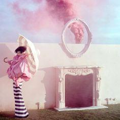 Pastel pink smoke signals