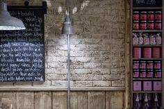 blackboards and retail shelving #decoration #interior #design