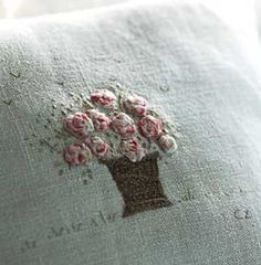 cushion (pillow) by Caroline Zoob ~   generously filled with organic lavender and are made from antique French textiles