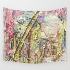 Bamboo Spirits Wall Tapestry by crismanart Buy Bamboo, Outdoor Walls, Framed Art Prints, Wall Tapestry, Vivid Colors, Favorite Color, Picnic Blanket, Hand Sewing, Spirit