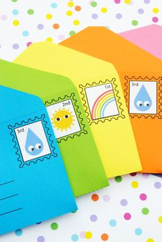 DIY play envelopes & stamps - so cute!