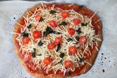 Low-carb, GF and paleo-friendly pizza crust made from flax seed meal. Susanna says: MAKE THIS! This is a keeper for us now! Wow - best low-carb, GF pizza crust I've had - and I like it a LOT better than the cauliflower pizza, AND it doesnt' have a ton of cheese in the crust.  HOWEVER - cut the salt down to 1/4 of what the recipe calls for - the crust was waaaaaaaaaaaaaaaay too salty as is!