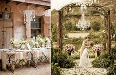 ... sort of bride? Check out the gorgeous hanging floral arrangements