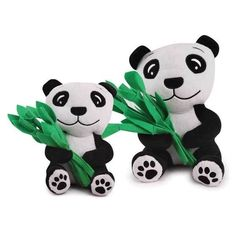 Prosperity Panda for Dogs Dog Puppy Plush Stuffed Good Luck Toy with Squeaker