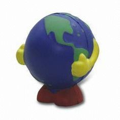 PU Stress Ball with Global Shape, Customized Logos and Artworks are Accepted Stress Ball, Stress Toys, Artworks, Zipper, Shapes, Logos, Gifts, Inspiration, Biblical Inspiration
