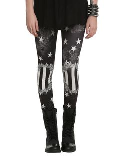 Black Starry Leggings from Hot Topic. Shop more products from Hot Topic on Wanelo. Patterned Leggings, Printed Leggings, Leggings Are Not Pants, Black Leggings, Gothic Leggings, Girls Leggings, Mode Renaissance, Cooler Look, Grunge Outfits