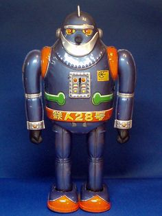 Tetsujin 28 Tin Toy Robot. Wow - never seen this one before. He's so, you know, bulgy.