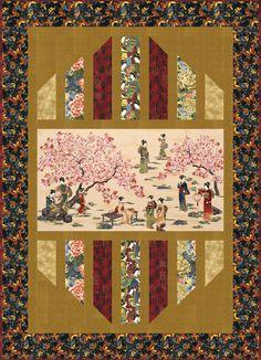 Reflections Designer Pattern: Robert Kaufman Fabric Company - neat way to feature a panel