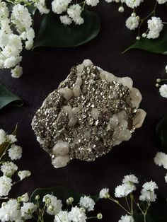 Pyrite Cluster Pyrite Quartz Crystal from El by bionicunicorn