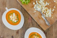 Meet my neighbour salmorejo and croquetas Neighbours 2, Thai Red Curry, Ethnic Recipes, Food, Recipes, Ethnic Food, Flowers, Essen, Meals