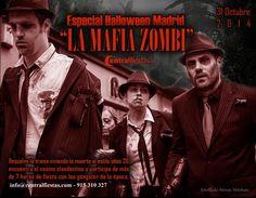 Especial Fiesta Halloween Madrid, La Mafia Zombie - Restaurantes en Madrid, Madrid.