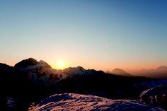 Sunset in the skiing area Nassfeld Hermagor (Austria) www.nassfeld.at