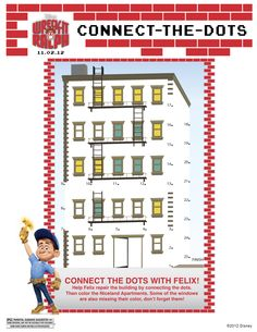 Wreck It Ralph Printable Connect The Dots
