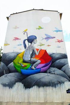 Seth - street art - Paris 13 - rue Emile Deslandres (juin 2013)