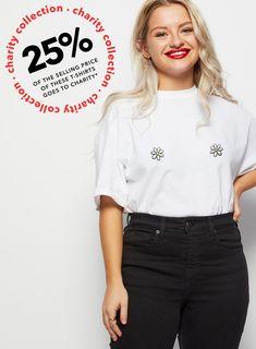 94867c0f7fa0 GIRLvsCANCER Charity White Daisy Print T-Shirt