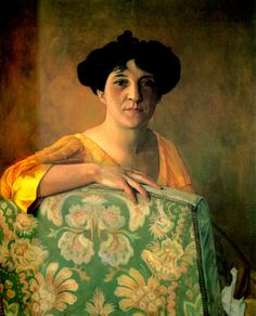 Félix Vallotton / Portrait de Gabrielle Vallotton, 1908
