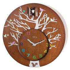 Bring the nature inside with this modern cuckoo clock. Every time the minute hand strokes 12 the doors will open to the sound of the new cuckoo hour. Have a 'Kookoo' time with our modern Cuckoo Clock :P Cheers! Wall Clock Cuckoo, Modern Cuckoo Clocks, Wall Clocks, Contemporary Decorative Pillows, Big Clocks, Wall Clock Online, Wall Clock Design, Mantle Clock, Wooden Clock
