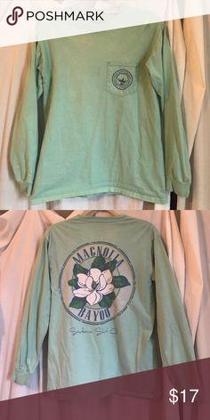 Southern Shirt Company T- Shirt Sea foam, size Small, Long sleeve shirt !! The Southern Shirt Company Tops Tees - Long Sleeve