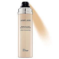 into the gloss said magic, long wear, might not have shades for light skin. you look airbrushed. $62Dior - Diorskin Airflash Spray Foundation