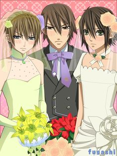 Ukes of Junjou Romantica, and they are obviously NOT pleased.