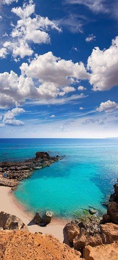 Stunning seascape in Formentera, Spain.