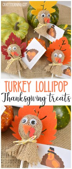 some fun turkey lollipop treats for Thanksgiving! Make some fun turkey lollipop treats for Thanksgiving!, Make some fun turkey lollipop treats for Thanksgiving! Thanksgiving Favors, Thanksgiving Crafts For Kids, Thanksgiving Parties, Holiday Crafts, Party Crafts, Thanksgiving Turkey, Diy Party, Diy Thanksgiving Decorations, Turkey Decorations