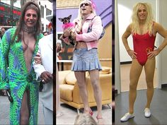 What a drag! Matt Lauer plays his 3rd female icon for Halloween
