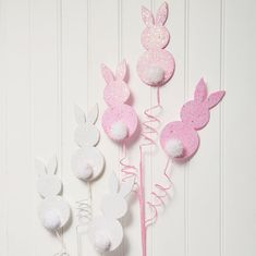 RAZ Bunny Picks Set of 2   2 Assorted Picks White, Pink Set includes one of each Made of EVA Foam Measures 27.5""