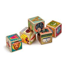 These beautifully crafted wooden Alphabet Blocks offers a unique and fun take on the classic ABC blocks.  A is for Apple, B is for Boring, Z is for ZZZ...  with amazing illustrations by Christian Northeast.  What kid wouldn't want this colorful toy to build and knock down!     The Alphabet Blocks are packed in a durable wooden storage tray, protected by a clear recyclable plastic box.