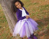 Purple TuTu with Zebra Ribbons
