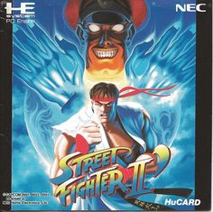 STREET FIGHTER II'. The classic, the legend. Hard to play with two buttons on the PC Engine GT though... #pcengine