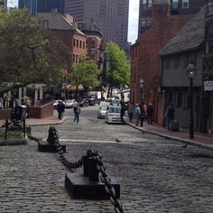 Cobblestones in downtown Boston Downtown Boston, Winding Road, Where The Heart Is, Places Ive Been, Street View, Road Trips, Massachusetts, City, Roads