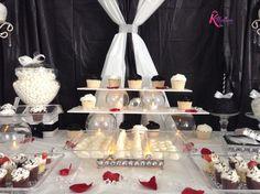 Black and White Dessert Buffet by www.KuteKreations.com