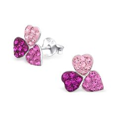 f02fe43ac Children's Pink Flower Real Sterling Silver Stud Earrings #925 #sterling # silver #stud. Melchior Jewellery