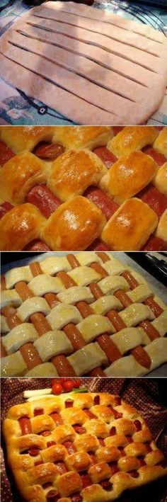Fun Art Project – Puff Pastry Intertwined With Sausages