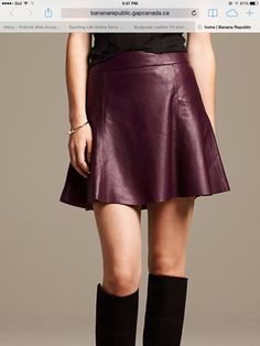 Banana Republic Leather skirt $275.00