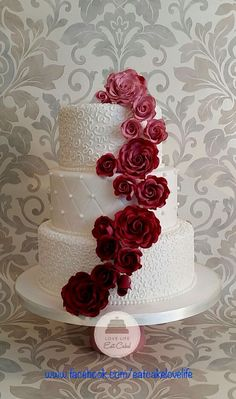 Burgundy ombré wedding cake 2016                                                                                                                                                     More