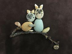 Pebble art cats by gülen