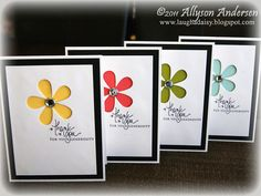 pretty card set - PTI Signature Greetings and flower die