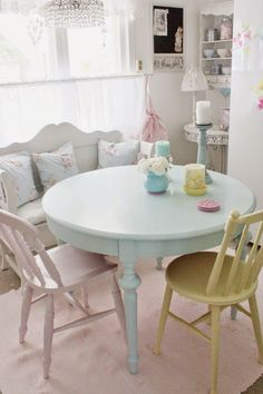 Michelle - Blog #Home #Colors - #Pastel Fonte : http://www.hearthandmade.co.uk/2013/08/PastelInteriors.html?m=1