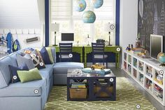 Bassett Furniture Playroom. This is my inspiration for the game room- it's exactly the same layout.