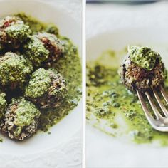 "Lentil ""Meatballs"" In Lemon Pesto Recipe appetizer, main-dish, sides, low carb, vegetarian, dinner, italian with 18 ingredients Recommended by 18 users."
