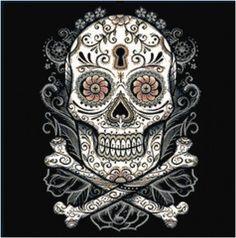 Dark Sugar Skull Cross Stitch Printable by KustomCrossStitch