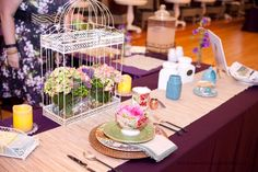 Antique Garden Party look featured at the Snohomish Wedding Tour.  Fun idea for tea parties as well!