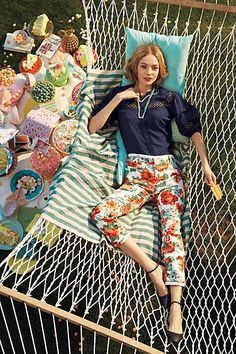Tapestry Floral Charlie Trousers #FlowerShop #Anthropologie