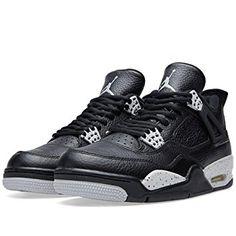 a183fbc441ca8b Jordan Nike Mens Air 4 Retro LS Oreo Black Tech Grey Leather Size 12 Basketball  Shoes Review